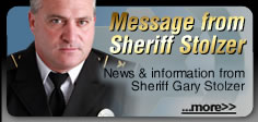Message from Sheriff Stolzer